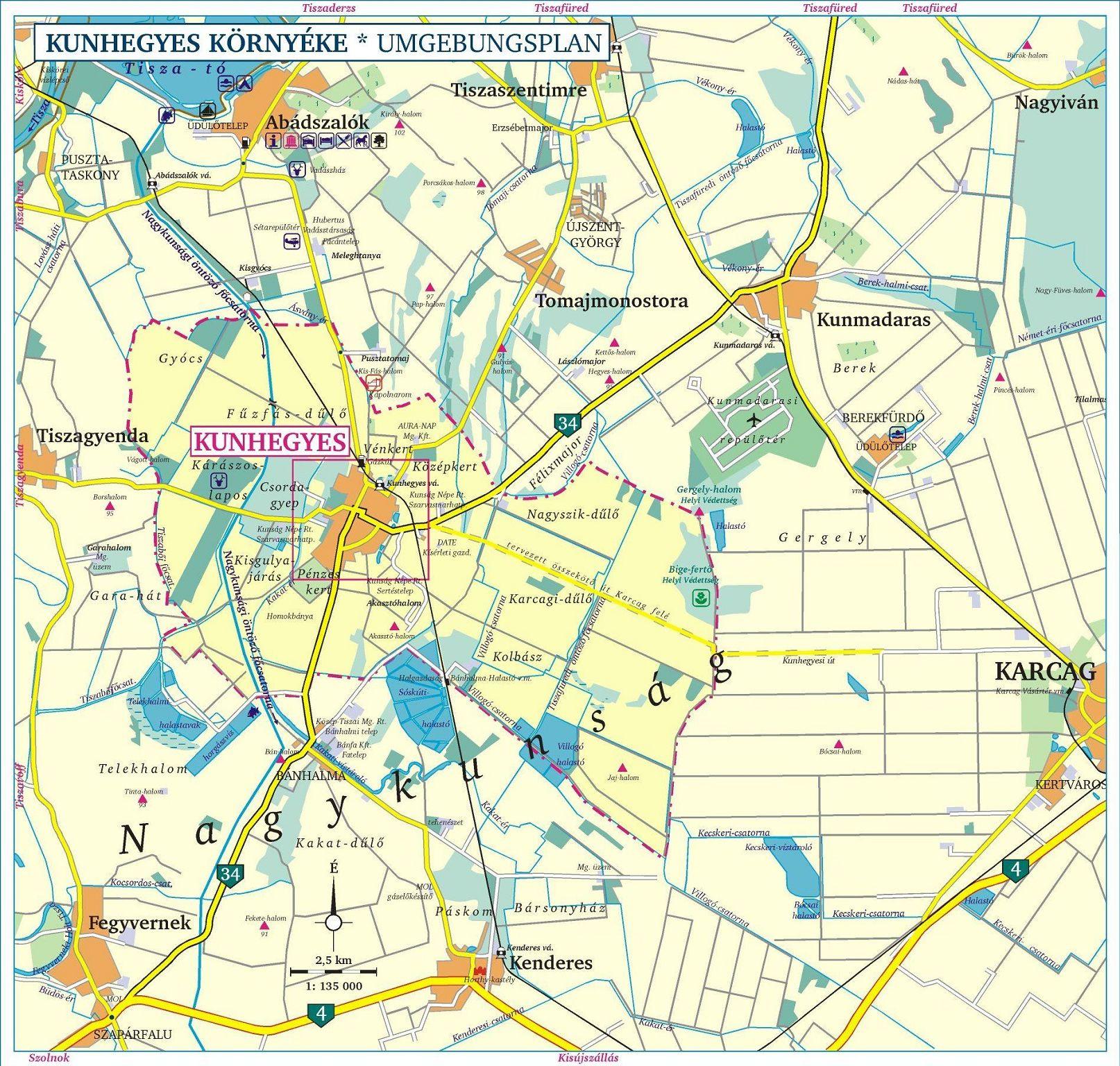 kunhegyes térkép Kunhegyes története Helyzete kunhegyes térkép